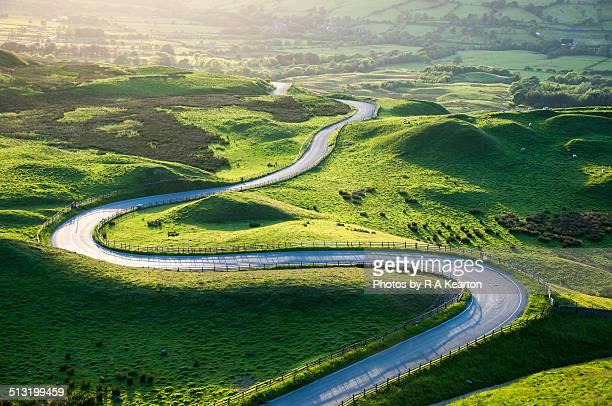 Bendy road, Mam Tor, Castleton