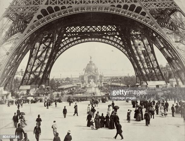 Beneath the Eiffel Tower Paris 1889 Designed by the French civil engineer Gustave Eiffel the Eiffel Tower was built for the International Exhibition...
