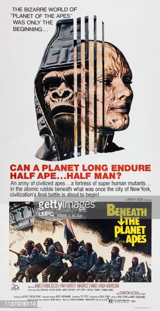 Beneath The Planet Of The Apes poster top right Natalie Trundy on poster art 1970