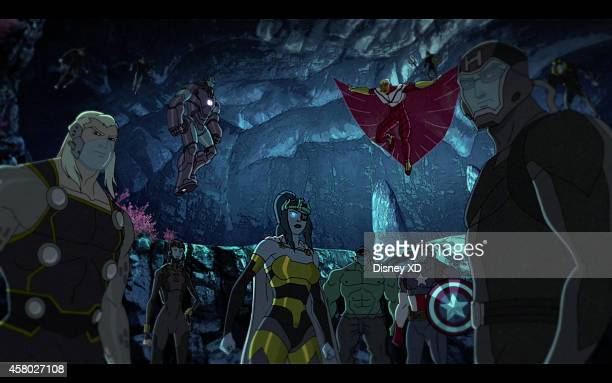 S AVENGERS ASSEMBLE 'Beneath the Surface' When Hawkeye and Black Widow stumble upon the Serpent Crown they must work together to stop Attuma's...