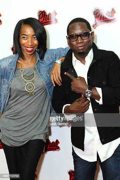 Benecia Williams and comedian Guy Torry attends the 20th Anniversary Of Phat Tuesdays at Club Nokia on September 1 2015 in Los Angeles California