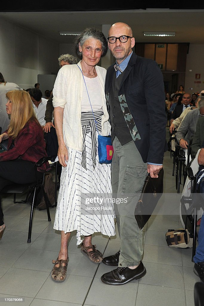 Benedetta Barzini and Antonio Marras attend Antonio Marras Receives Honorary Degree From Academy of Fine Arts of Brera on June 12, 2013 in Milan, Italy.