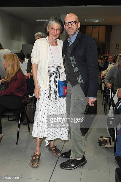 Benedetta Barzini and Antonio Marras attend Antonio Marras Receives Honorary Degree From Academy of Fine Arts of Brera on June 12 2013 in Milan Italy