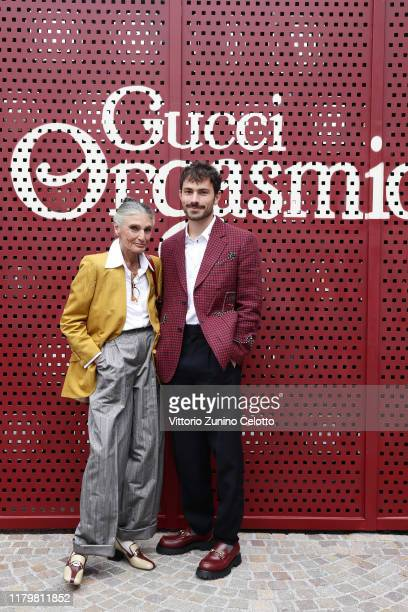 Benedetta Barzini and Beniamino Barrese arrive at the Gucci show during Milan Fashion Week Spring/Summer 2020 on September 22 2019 in Milan Italy