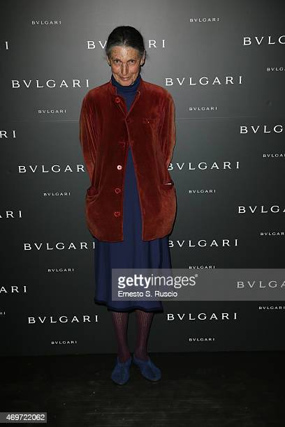 Benedetta Barzini attends Bulgari celebration of Design Week on April 14 2015 in Milan Italy