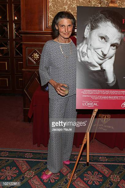 Benedetta Barzini attends Fondazione Umberto Veronesi Gala Dinner on June 15 2010 in Milan Italy
