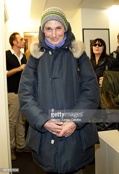 Benedetta Barzini attends the book launch of Franca Sozzani's book 'I Capricci Della Moda' held at Vogue Editorial Office on December 10 2010 in...