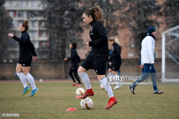 Benedetta Glionna during a Juventus Women training session on February 2 2018 in Turin Italy
