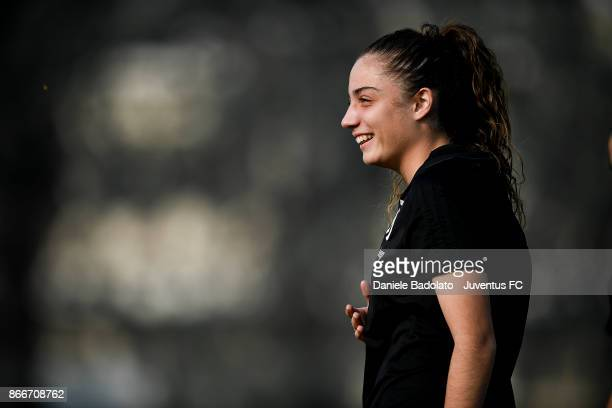 Benedetta Glionna during a Juventus Women training session on October 26 2017 in Turin Italy