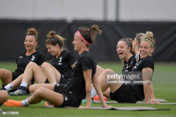 Benedetta Glionna during the Juventus Women training session on May 23 2018 in Turin Italy