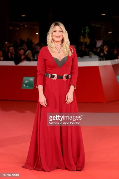 Benedetta Mazza walks a red carpet for 'Prendre La Large' during the 12th Rome Film Fest at Auditorium Parco Della Musica on October 29 2017 in Rome...