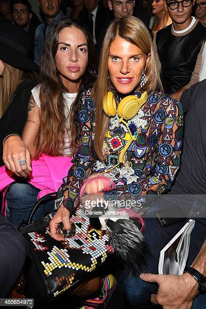 Benedetta Mazzini and Anna Dello Russo attend the DSquared2 show during the Milan Fashion Week Womenswear Spring/Summer 2015 on September 18 2014 in...
