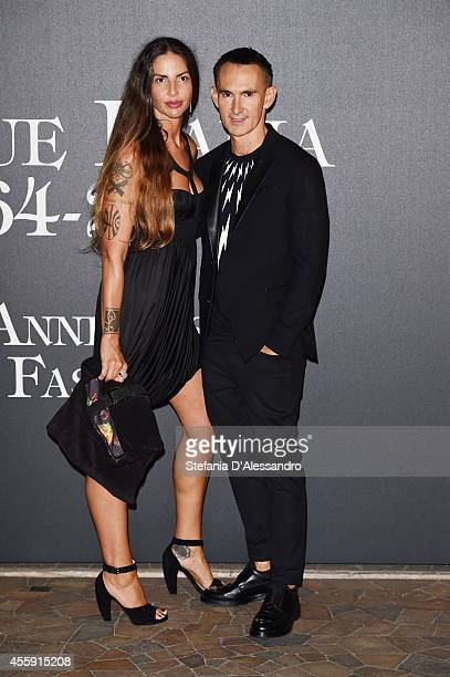 Benedetta Mazzini and Neil Barrett attend Vogue Italia 50th Anniversary Event on September 21 2014 in Milan Italy