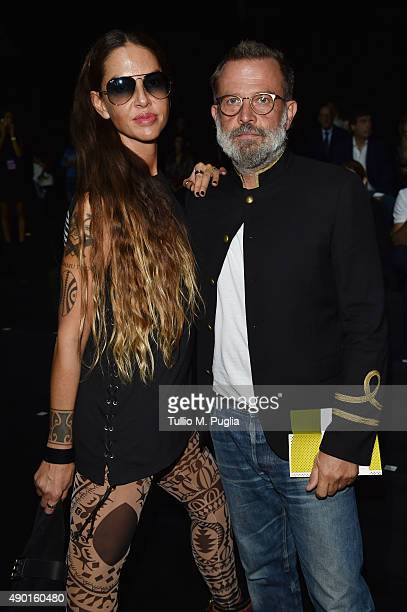 Benedetta Mazzini and Robert Rabensteiner attend the DSquared2 show during the Milan Fashion Week Spring/Summer 2016 on September 26 2015 in Milan...
