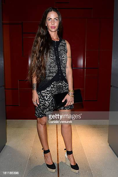 Benedetta Mazzini attends DSquared2 Cocktail during the Milan Fashion Week Womenswear Spring/Summer 2014 on September 19 2013 in Milan Italy