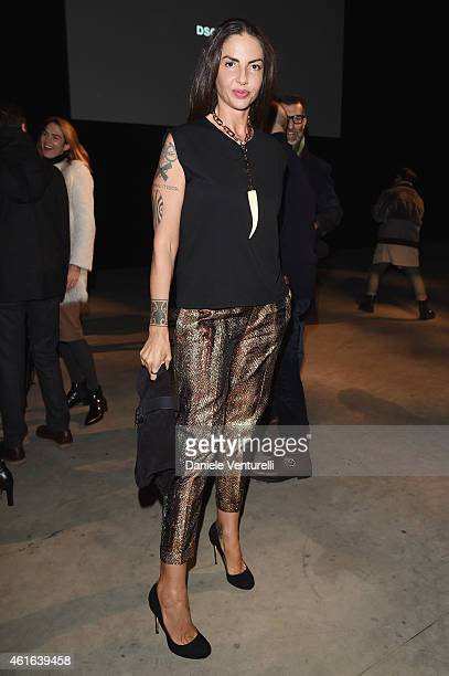 Benedetta Mazzini attends the Dsquared2 during the Milan Menswear Fashion Week Fall Winter 2015/2016 on January 16 2015 in Milan Italy