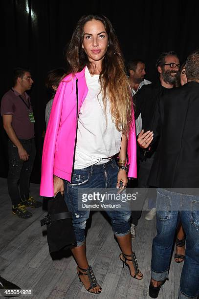 Benedetta Mazzini attends the DSquared2 show during the Milan Fashion Week Womenswear Spring/Summer 2015 on September 18 2014 in Milan Italy