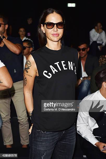 Benedetta Mazzini attends the Dsquared2 show during the Milan Men's Fashion Week Spring/Summer 2016 on June 23 2015 in Milan Italy