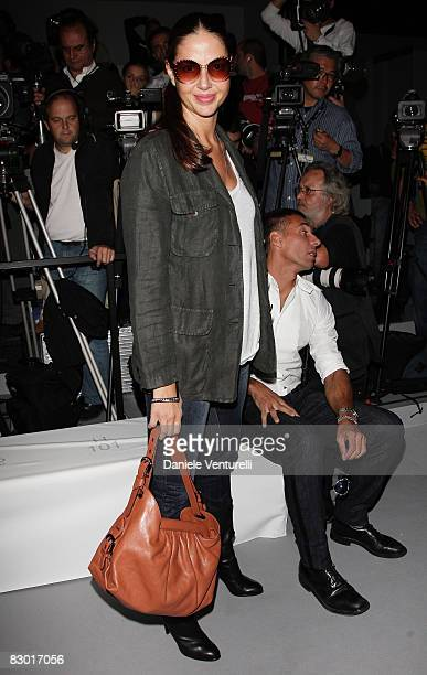 Benedetta Mazzini attends the Fendi fashion show at Milan Fashion Week Spring/Summer 2009 on September 25 2008 in Milan Italy
