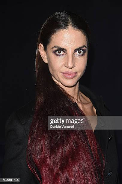Benedetta Mazzini attends the Moncler Gamme Bleu show during Milan Men's Fashion Week Fall/Winter 2016/17 on January 17 2016 in Milan Italy