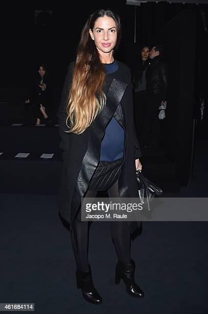 Benedetta Mazzini attends the Neil Barret Show during the Milan Menswear Fashion Week Fall Winter 2015/2016 on January 17 2015 in Milan Italy
