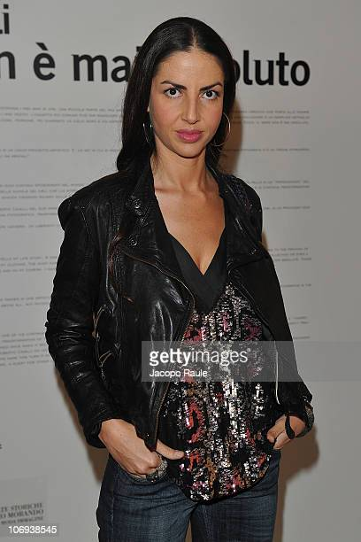 Benedetta Mazzini attends the Roberto Cavalli Il Nero Non E' Mai Assoluto Opening Exhibition on November 17 2010 in Milan Italy