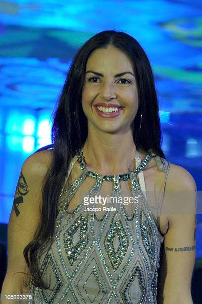 Benedetta Mazzini attends X Factor Italian Tv Show held at Rai Studios on October 12 2010 in Milan Italy