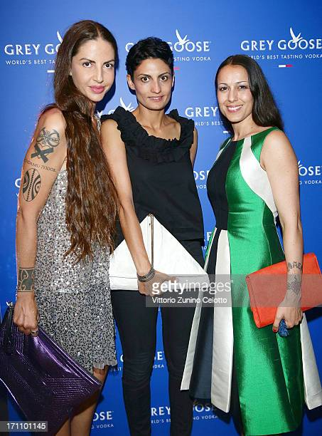 Benedetta Mazzini guest and Syria attend Grey Goose Carlo Mengucci Party on June 21 2013 in Milan Italy