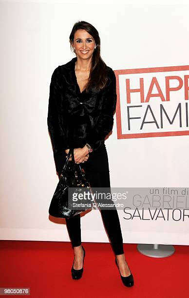 Benedetta Parodi attends 'Happy Family' Milan Premiere held at Cinema Apollo on March 25 2010 in Milan Italy