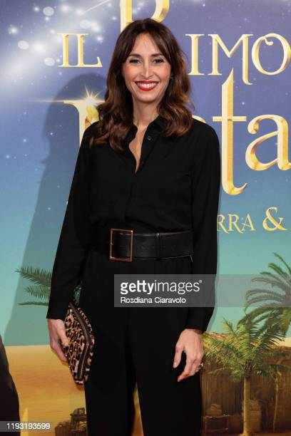 "Benedetta Parodi attends the ""Il Primo Natale"" Photocall on December 10, 2019 in Milan, Italy."
