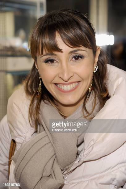 Benedetta Parodi attends the Rodo Firenze flagship store opening as part of Milan Womenswear Fashion Week on February 22, 2012 in Milan, Italy.