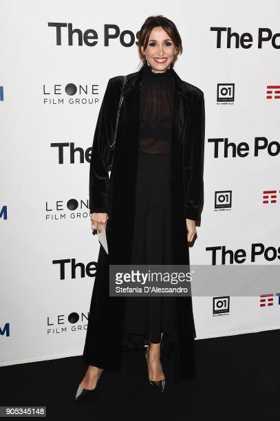 Benedetta Parodi attends the 'The Post' premiere on January 15, 2018 in Milan, Italy.