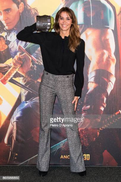Benedetta Parodi attends the 'Thor Ragnarok' premiere on October 24 2017 in Milan Italy