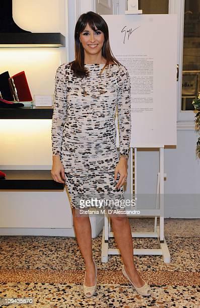Benedetta Parodi attends the Vicini Presentation as part of Milan Fashion Week Womenswear Autumn/Winter 2011on February 25 2011 in Milan Italy