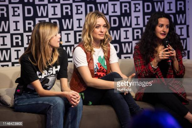 Benedetta Porcaroli and Carolina Crescentini on stage at the Wired Next Fest to talk about the role of women in television series Milan Italy on May...