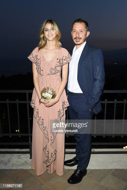 Benedetta Porcaroli and Michele Alaique attend the Nastri D'Argento cocktail party in Taormina on June 29 2019 in Taormina Italy