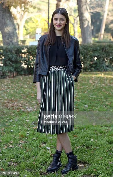 Benedetta Porcaroli attends a photocall for 'Tutto Puo' Succedere' RAI TV Serie at Villa Borghese on December 18 2015 in Rome Italy