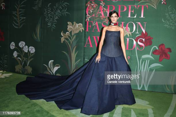 Benedetta Porcaroli attends the Green Carpet Fashion Awards during the Milan Fashion Week Spring/Summer 2020 on September 22, 2019 in Milan, Italy.