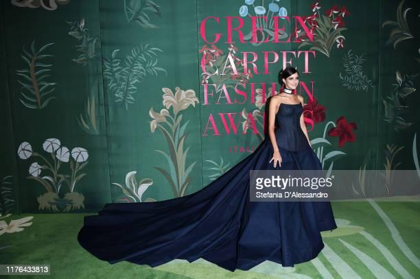 Benedetta Porcaroli attends the Green Carpet Fashion Awards during the Milan Fashion Week Spring/Summer 2020 on September 22 2019 in Milan Italy