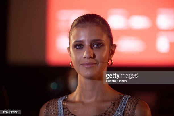 Benedetta Porcaroli is seen before receiving the Nuovo IMAIE Award for Revelation Actress for the film 18 Presents at the Bari Film Festival on...
