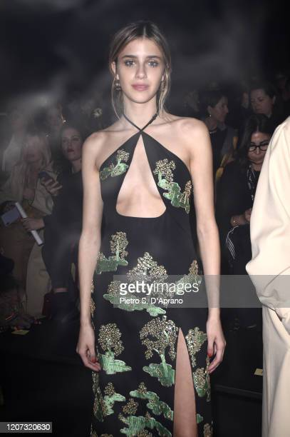Benedetta Porcaroli is seen on Gucci Front Row during Milan Fashion Week Fall/Winter 2020/21 on February 19, 2020 in Milan, Italy.