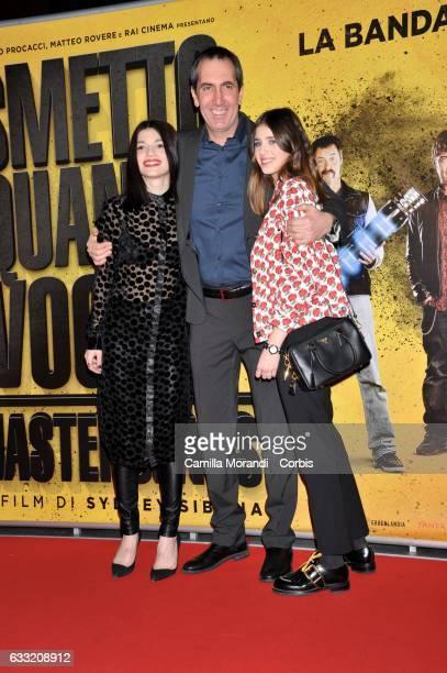 Benedetta Porcaroli Paolo Capitani and Carlotta Antonelli attend a photocall for 'Smetto Quando Voglio Masterclass' on January 31 2017 in Rome Italy