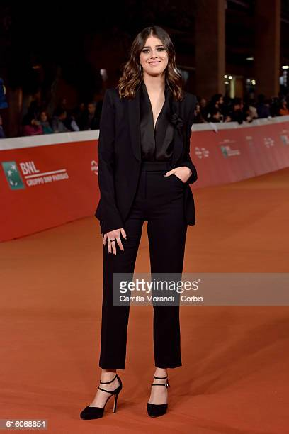 Benedetta Porcaroli walks a red carpet for '7 Minuti' during the 11th Rome Film Festival on October 21 2016 in Rome Italy