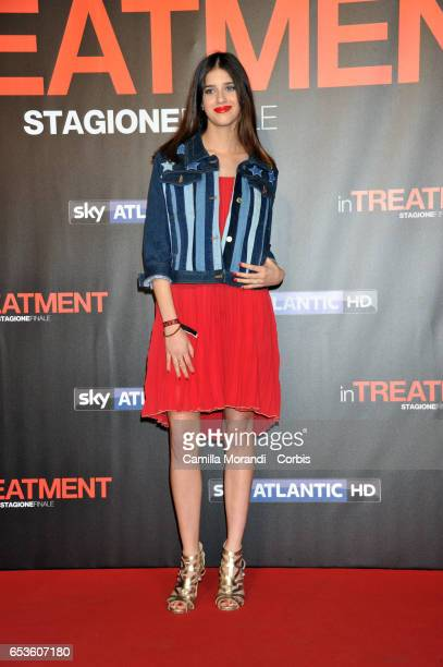 Benedetta Porcaroli walks a red carpet for 'In Treatment' on March 15 2017 in Rome Italy