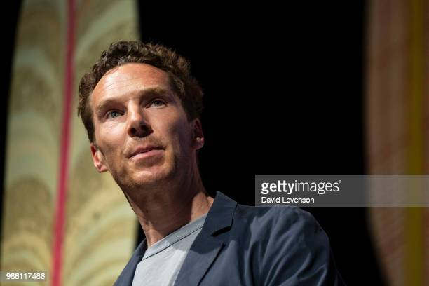 Benedict Cumberbatch actor at the Hay Festival on June 2 2018 in HayonWye Wales