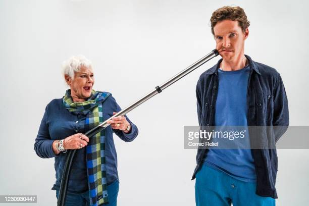 Benedict Cumberbatch and Dame Judi Dench star in the Red Nose Day 2021, Funny is Power campaign film, What is it to be Human? on October 16,2020 in...