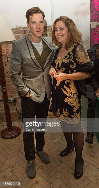 Benedict Cumberbatch and Greta Scacchi attend the Soho House and Grey Goose party to celebrate the CineCity film festival on November 13 2013 in...