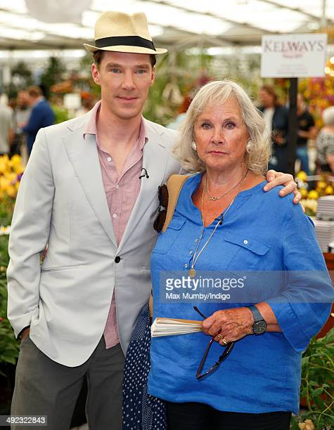Benedict Cumberbatch and his mother Wanda Ventham attend the VIP preview day of The Chelsea Flower Show at The Royal Hospital Chelsea on May 19 2014...