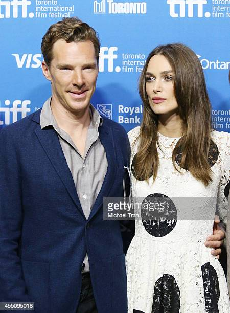 Benedict Cumberbatch and Keira Knightley arrive at the photocall of The Imitation Game held during the 2014 Toronto International Film Festival Day 6...