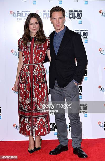 Benedict Cumberbatch and Keira Knightley attend a photocall for The Imitation Game during the 58th BFI London Film Festival at Corinthia Hotel London...